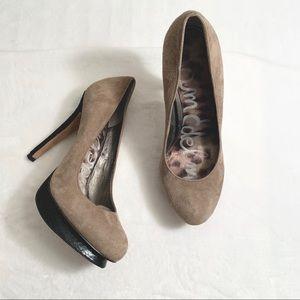 SAM EDELMAN | Tan Suede Platform Pump Heels Size 7